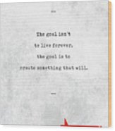 Chuck Palahniuk Quotes - Literary Quotes - Book Lover Gifts - Typewriter Quotes Wood Print