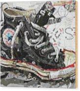 Chuck Taylor All-star Wood Print