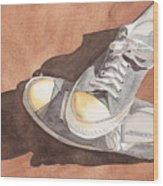 Chucks Wood Print by Ken Powers