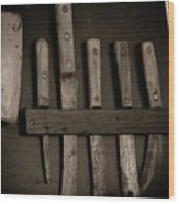 Chuck Wagon Knives Wood Print