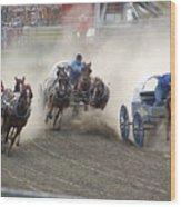 Chuckwagon Racers Wood Print