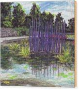 Chuhuly Installation At Biltmore Water Gardens Wood Print
