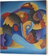 Chujllas Mayu Apu Wood Print by Fernando  Ocampo Sandy