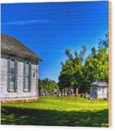 Church And Graveyard Wood Print