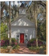 Church At Micanopy Wood Print