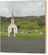Church At Vik I Myrdal Iceland Wood Print