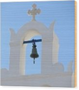 Church Bell By The Sea Wood Print