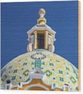Church Dome And Blue Sky Wood Print