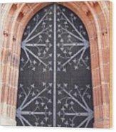 Church Door In Eltville Wood Print
