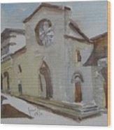 Church Facade Wood Print