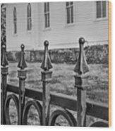 Church Fence Wood Print