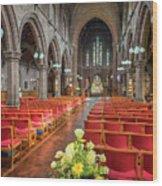 Church Flowers Wood Print