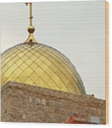 Church Golden Dome Wood Print