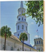Church In Charleston Wood Print