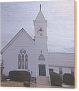 Church In Damascus Maryland Wood Print