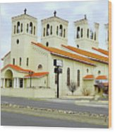 Church In New Mexico Multiplied Wood Print