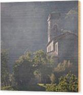 Church In Partigliano Wood Print by Steven Gray