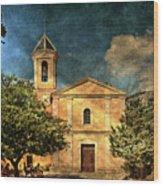 Church In Peillon Wood Print