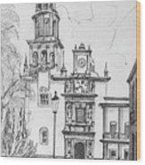 Church In Queretaro, Mx Wood Print