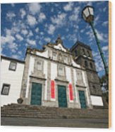 Church In Ribeira Grande Wood Print