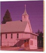 Church In Spirit Lake Idaho  Wood Print