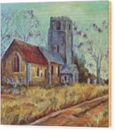 Church In Suffolk  Wood Print