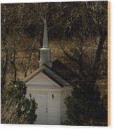 Church In The Garden Wood Print