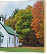 Church In The Wildwood Wood Print