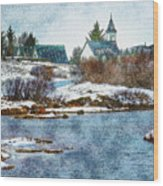 Church In Thingvellir Wood Print