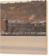 Church Landing In January Wood Print