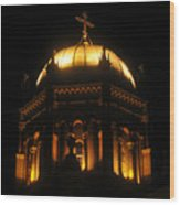 Church Lights Wood Print