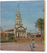 Church Of Caldera Wood Print
