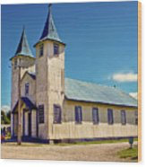 Church Of Chacao Wood Print