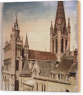 Church Of Notre-dame Of Dijon France - Remastered Wood Print