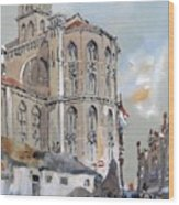 Church Of Santa Maria Wood Print