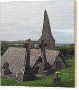 Church Of St. Enodoc Wood Print