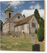 Church Of St. Lawrence West Wycombe 3 Wood Print