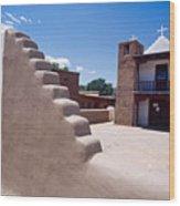 Church Of Taos Pueblo New Mexico Wood Print