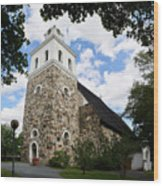 Church Of The Holy Cross At Rauma Wood Print