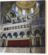 Church Of The Holy Sepulchre Interior Wood Print
