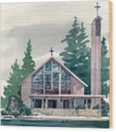 Church Of The Immaculate Heart Of Mary Wood Print