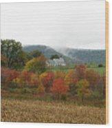Church On Autumn Morning Wood Print