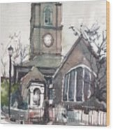 Church On Chelsea Embankment Wood Print