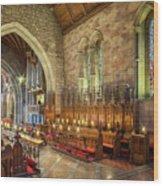 Church Organist Wood Print