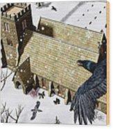Church Ravens Wood Print