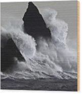 Church Rock Explosion Wood Print