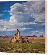 Church Rock Thunderhead Wood Print