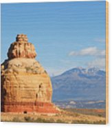 Church Rock Utah Wood Print