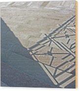 Church Shadow Steps Wood Print