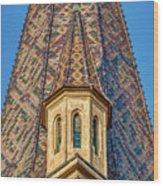 Church Spire Details - Romania Wood Print